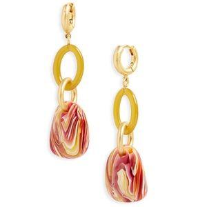🆕 Madewell Resin Link Hoop Earrings NWT